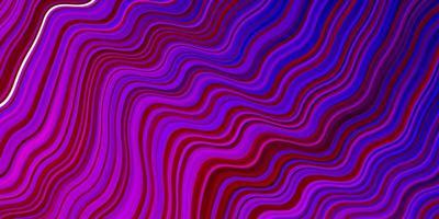 ljuslila, rosa vektormall med böjda linjer.