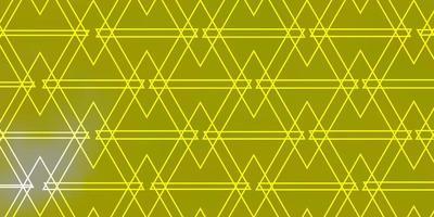 hellgelber Vektorhintergrund mit Dreiecken.