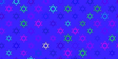 mörk flerfärgad vektormall med influensatecken.
