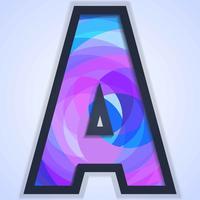 Buchstabe A Typografie Hintergrund vektor
