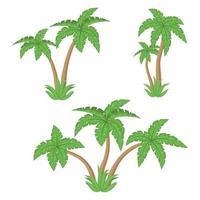 Palmenvektorentwurfsillustration lokalisiert auf weißem Hintergrund vektor