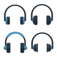 Kopfhörer-Vektor-Design-Illustration lokalisiert auf weißem Hintergrund vektor