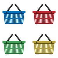 Supermarktkorb Vektor-Design-Illustration lokalisiert auf weißem Hintergrund vektor