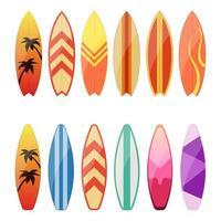 Surfbrett Vektor Design Illustration isoliert auf weißem Hintergrund