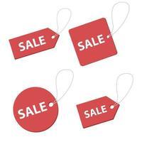 Verkaufsetikett Vektor-Design-Illustration lokalisiert auf weißem Hintergrund