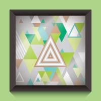 Abstrakt Trianglar Illustration