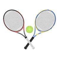 Tennisschlägervektorentwurfsillustration lokalisiert auf weißem Hintergrund