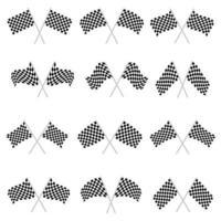 Rennflaggenvektorentwurfsillustration lokalisiert auf weißem Hintergrund vektor