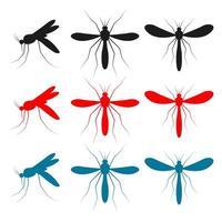 Moskito-Insektenvektor-Entwurfsillustration lokalisiert auf weißem Hintergrund vektor