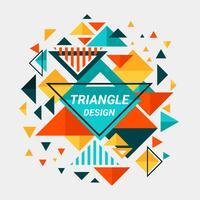 Farbe voll abstraktes Dreieck Design vektor
