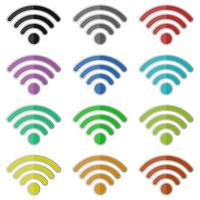 Internet-WLAN-Vektor-Design-Illustration lokalisiert auf weißem Hintergrund