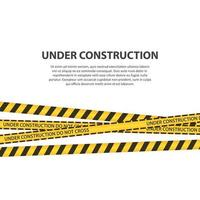 im Bau Zone Vektor Design Illustration auf weißem Hintergrund isoliert