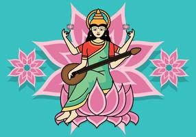 saraswathi vektor illustration