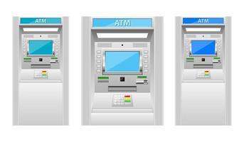 ATM maskin vektor design illustration isolerad på vit bakgrund