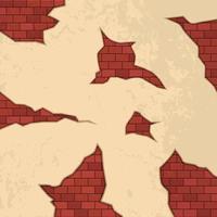 Ziegelrisse auf Wandvektorentwurfsillustration vektor