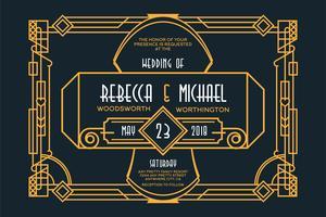 Art-Deco-Hochzeit vektor