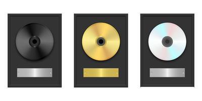 CD- und DVD-Vektorentwurfsillustration lokalisiert auf weißem Hintergrund vektor