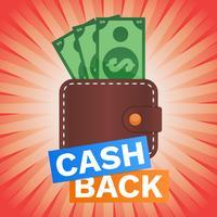 Geldbörse mit Bargeld-Geld-Illustration