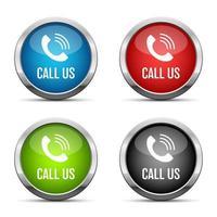 Rufen Sie uns Knopf Vektor Design Illustration auf weißem Hintergrund isoliert