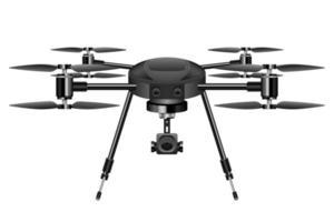 realistische Drohnenvektorentwurfsillustration lokalisiert auf weißem Hintergrund vektor