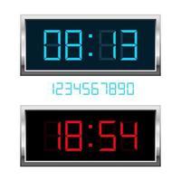 digitale Uhrvektorentwurfsillustration lokalisiert auf Hintergrund vektor