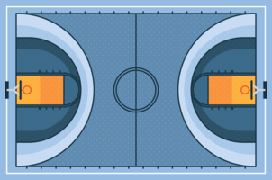 Basketplan vektor