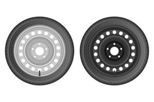 Autoreifenvektor-Designillustration lokalisiert auf weißem Hintergrund vektor