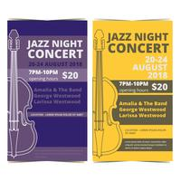 Vektor Jazz Konzert Poster