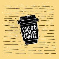 Kaffee-Silhouette-Vektor von Hand gezeichnet vektor
