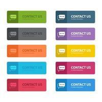 Kontaktieren Sie uns Knopfvektor-Designillustration lokalisiert auf weißem Hintergrund vektor