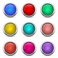 glänzende Knöpfe Vektor-Design-Illustration lokalisiert auf weißem Hintergrund vektor