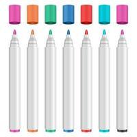 farbige Markierungssatzvektor-Entwurfsillustration lokalisiert auf weißem Hintergrund vektor