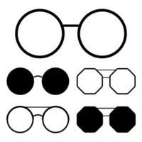 Vektorentwurfillustration der Hipster-Sonnenbrille lokalisiert auf weißem Hintergrund