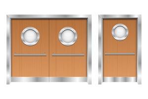 Krankenhaus Doppeltüren Vektor-Design-Illustration lokalisiert auf weißem Hintergrund