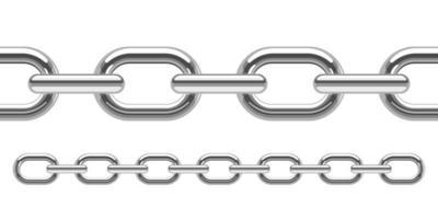 metallische Kettenvektorentwurfsillustration lokalisiert auf weißem Hintergrund vektor