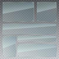 Transaprent Glas Set Vektor Design Illustration