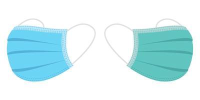 medizinische Maskenvektorentwurfsillustration lokalisiert auf weißem Hintergrund