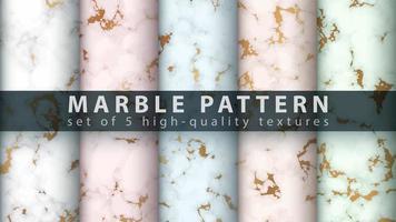 Marmor Textur Muster Hintergrund gesetzt vektor