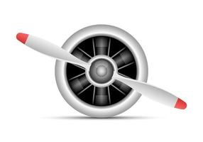 Strahltriebwerksvektorentwurfsillustration lokalisiert auf weißem Hintergrund vektor