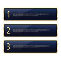Luxus goldene Banner Vektor Design Illustration