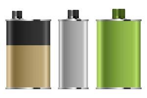 Motoröl Metallic Flasche Vektor Design Illustration auf weißem Hintergrund isoliert