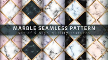 nahtloser Texturmusterhintergrund des Marmors gesetzt mit geometrischen Formen