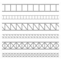 Stahlfachwerkträger-Vektorentwurfsillustration lokalisiert auf weißem Hintergrund vektor