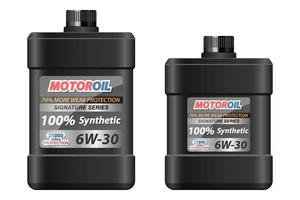 Motoröl Plastikflasche Vektor Design Illustration lokalisiert auf weißem Hintergrund