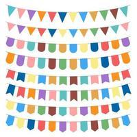 Party Flag Vektor Design Illustration isoliert auf weißem Hintergrund