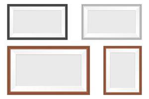 Fotorahmenvektorentwurfsillustration lokalisiert auf weißem Hintergrund
