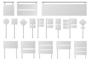 leere Straßenschildvektorentwurfsillustration lokalisiert auf weißem Hintergrund vektor