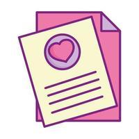 Glücklicher Valentinstag, Briefkartenherzliebe