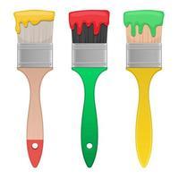 Pinsel Vektor Design Illustration isoliert auf weißem Hintergrund