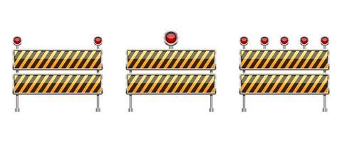Stop-Barriere-Vektor-Design-Illustration lokalisiert auf weißem Hintergrund vektor